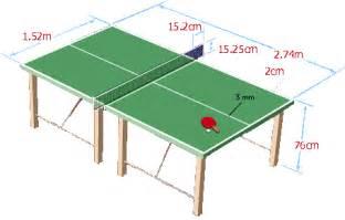 Table De Ping Pong Dimension