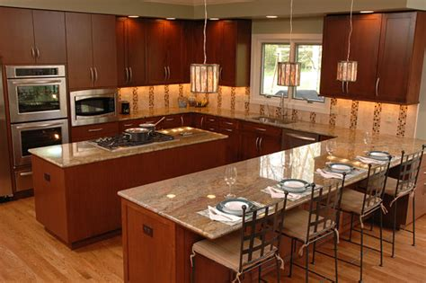 u shaped kitchen layout with island home design