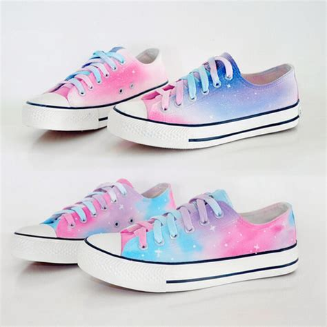 painted shoes harajuku galaxy gradient painted shoes 183 kawaii