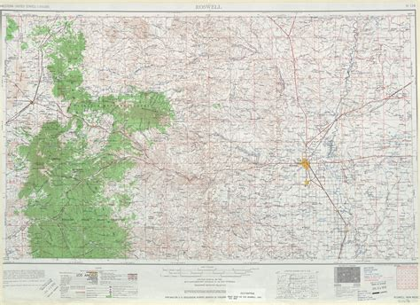 roswell topographic map sheet united states 1961 size