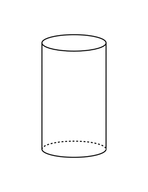 How To Make A 3d Cylinder Out Of Paper - flashcard of a cylinder clipart etc