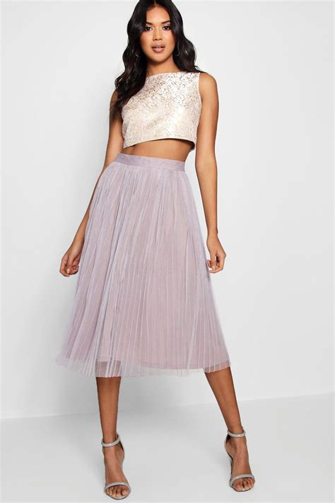 Set In Top boutique may jacquard top midi skirt co ord set at boohoo