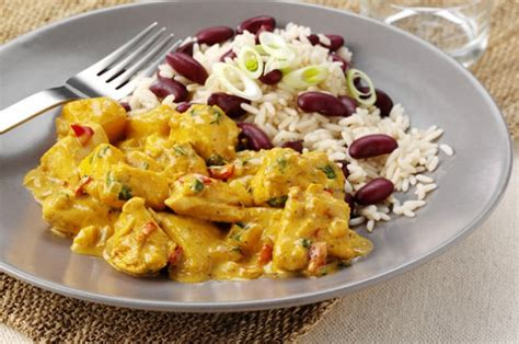 printable caribbean recipes caribbean chicken curry with rice and peas recipe goodtoknow
