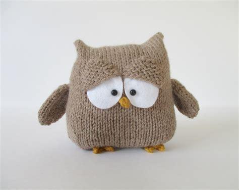 knitting pattern owl toy oscar the owl toy knitting patterns