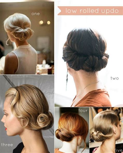 tuck in hairstyles 25 best ideas about low rolled updo on pinterest easy