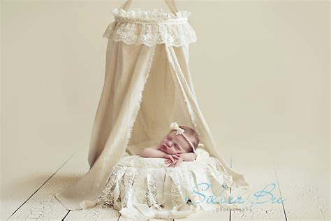 Handmade Photography - diy fabric canopy for newborn photography silver bee