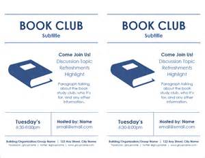 book flyer template meeting flyer templates for word