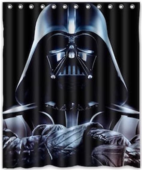 darth vader shower curtain star wars black darth vader shower curtain