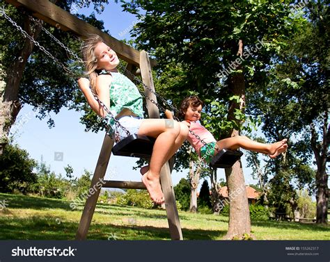 swing girls portrait girl on swing stock photo 155262317 shutterstock