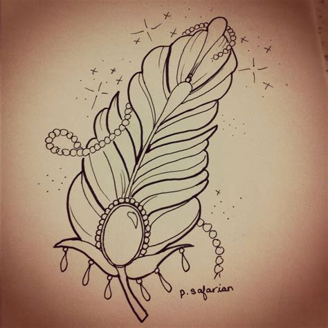 girly tattoos pinterest girly feather maybe i can draw it or add some