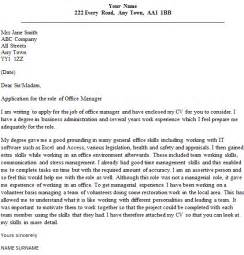 office manager cover letter free sle cover letter for office manager cover letter