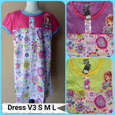 Grosir Murah Dress Fashion Dress Crepe 1 pusat grosir dress v3 size s m l motif terbaru murah rp 22 500