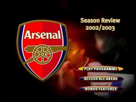 arsenal season review 2002 2003 dvd9 dvd sepakbola for