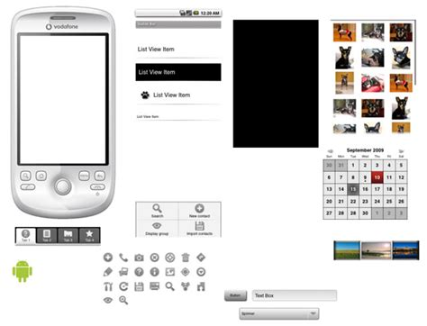 visio android stencil android app developers gui kits icons fonts and tools