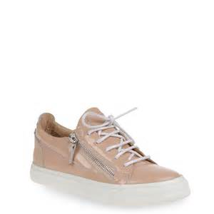 zanotti shoes giuseppe zanotti sneakers in blush patent leather
