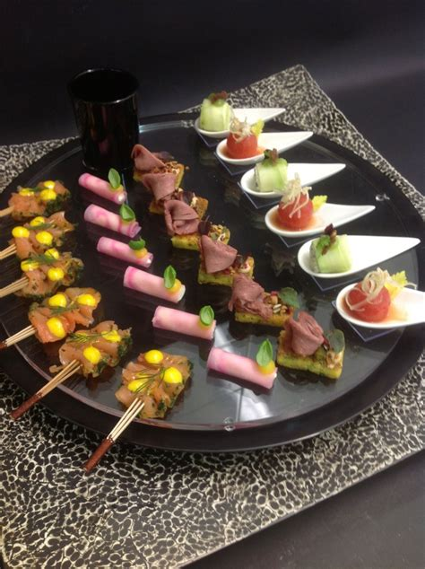 dinner canapes gold and white wedding buffet dinner late snack