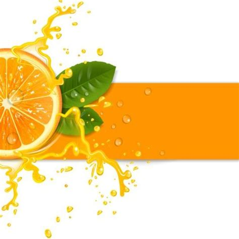 Juice Design Background | fresh orange with juice background vector 01 vector