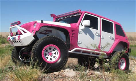 Pink Jeeps For Sale 2015 Jeep Wrangler Rubicon Pink White Custom Bad Boy