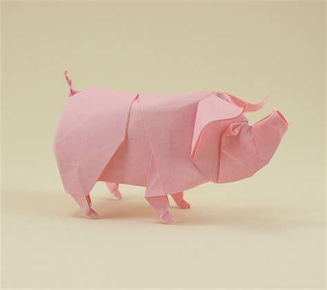Pig Origami - origami animals