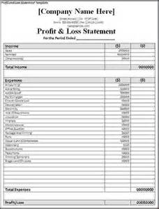 profit and loss templates 7 simple profit and loss template procedure template sle