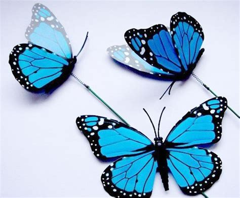 Decorative Butterflies by 6pcs 12 Cm Colorful 3d Artificial Butterflies With Iron