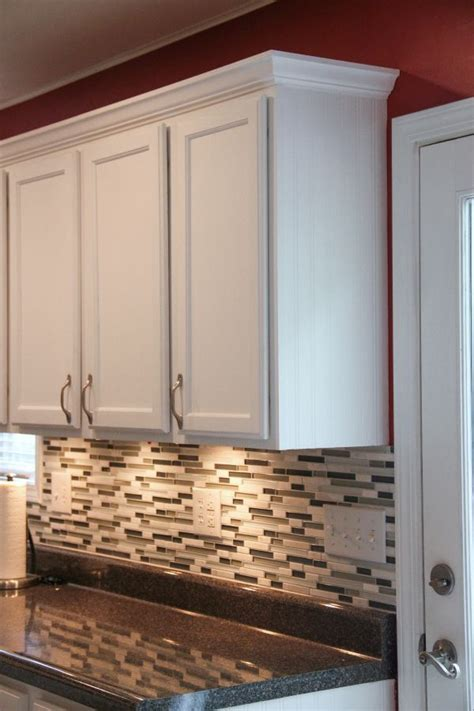how to cut crown molding for kitchen cabinets best 25 laminate cabinet makeover ideas on pinterest