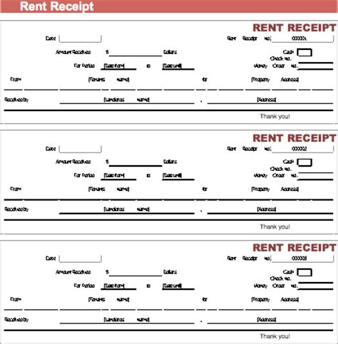 excel rent receipt template rent receipt excel format receipt template
