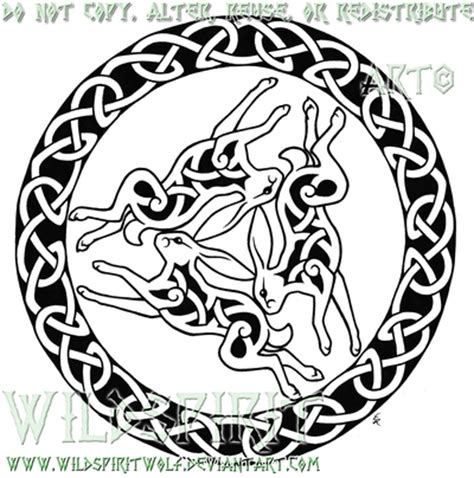 traditional tattoo wolfhat wolf border hare celtic by wildspiritwolf on deviantart