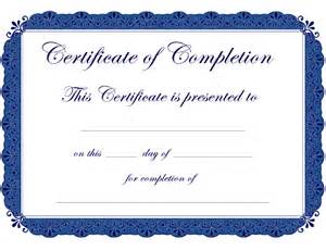 Template Certificate Of Completion by Certificate Of Completion Free Certificate Of Completion