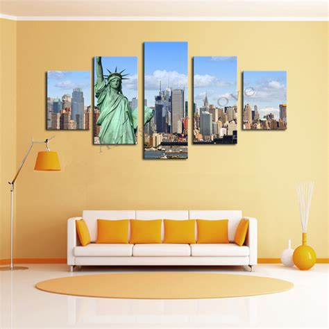 canvas print without frame without frame 5 panels picture new york city hd canvas
