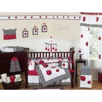 Ladybug Crib Bedding Set by Ladybug Crib Bedding Collection