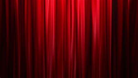 Light Blue Silk Curtains by Red Curtains Open White Background Stock Footage Video