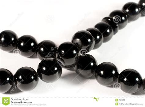 black bead closeup of shiny black stock image image 7325855