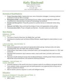 Qualifications Resume Exles by Resume Format Qualifications For Resume Exle