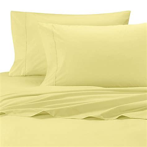 percale egyptian cotton sheets wamsutta 174 cool touch percale egyptian cotton olympic queen fitted sheet bed bath beyond
