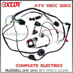 aliexpress buy atv wiring harness 50cc 70cc 110cc 125cc ignition coil cdi stator