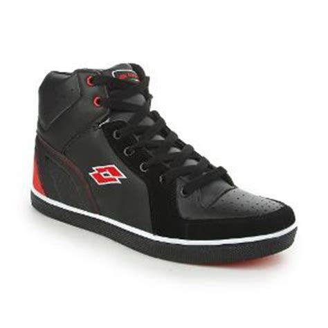 lotto s black ankle length casual shoes lotto