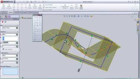 solidworks tutorial extrude 3 solidworks surface tutorial extruded surface pt3