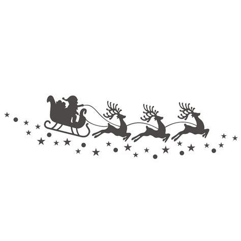 Weihnachtsdeko Fenster Aufkleber by Aufkleber Fenster Dekoration Rentier Schlitten Mit Sternen