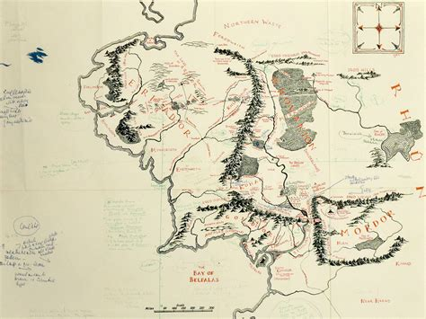 the hobbit interactive map tolkien annotated map of middle earth found in copy