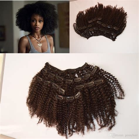 african american microlink hair extensions 4a 4b 4c afro kinky curly clip in hair extensions for