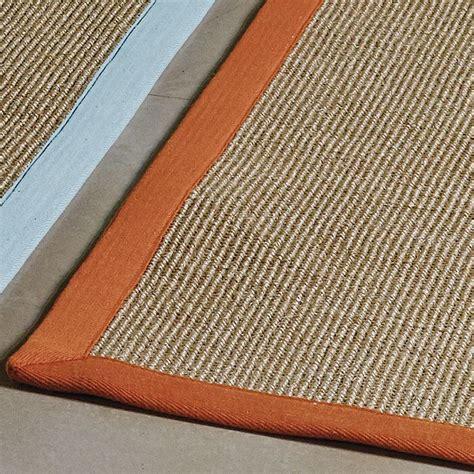 sisal rug runners sisal rug orange border clearance price 163 42 free delivery