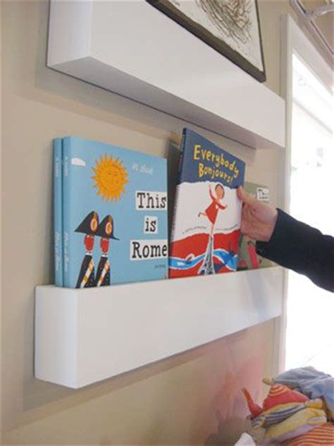 how to make wall shelves for books in the nursery diy
