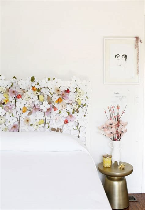Flower Headboard by 21 Diy Headboards To Fall In Bed For