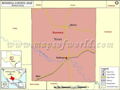runnels county map texas