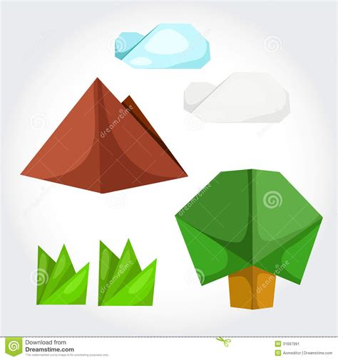 Origami Illustrator - origami nature stock image image 31697991