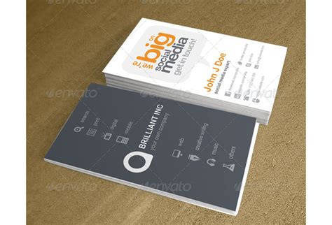 social media business cards template the classiest and well designed printable business cards