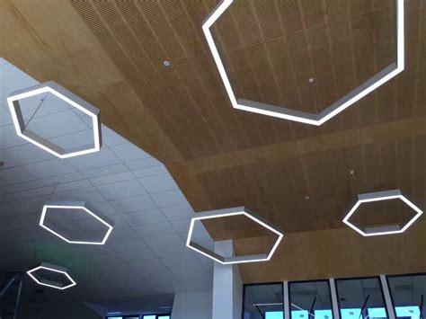 Lighting Lab Hexagonal Linear Led Pendant Light Eqlight Hexagon Ceiling Light