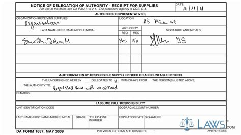 Learn How to Fill the DA form 1687 Notice of Delegation of ... K 1687