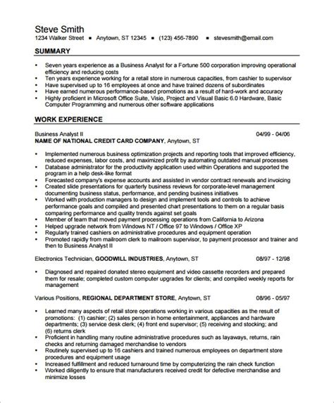 Resume For Business Analyst In Banking Domain Business Analyst Banking Domain Resume Business Analyst Resume For Financial And Banking Domain